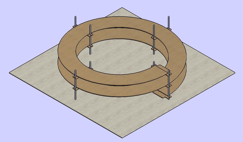 2 Umdrehungen Gleiswendel H0 passend für Märklin C-Gleise zweigleisig R1 und R2
